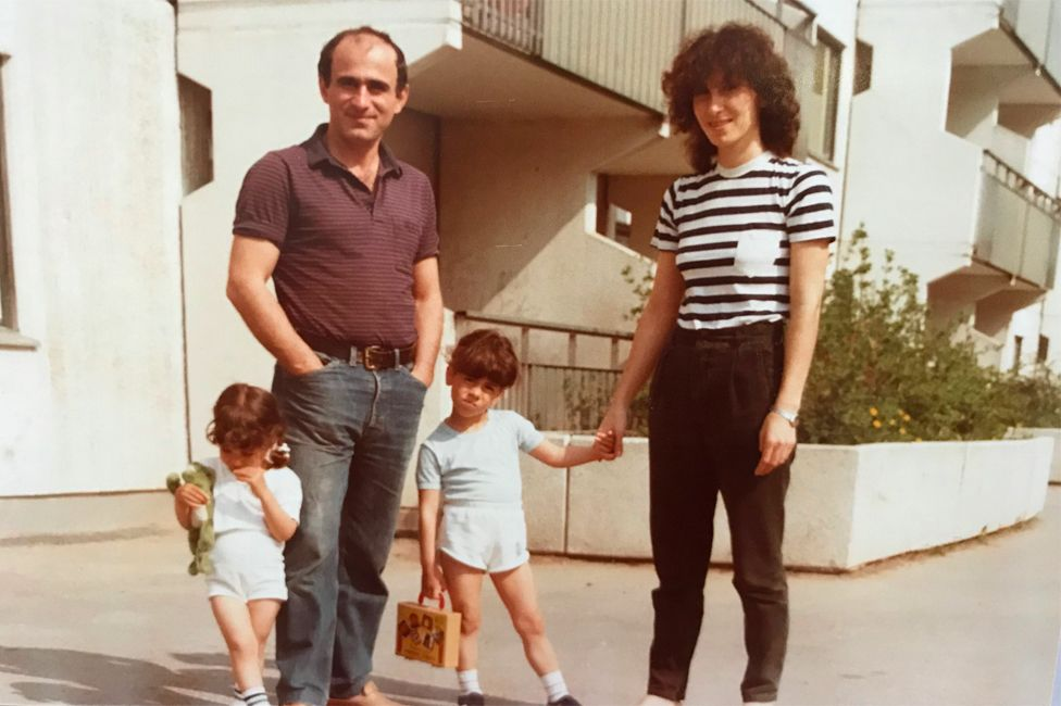 A young Susanne Najafi with her family