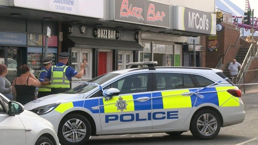 Police car outside Buzz Bar