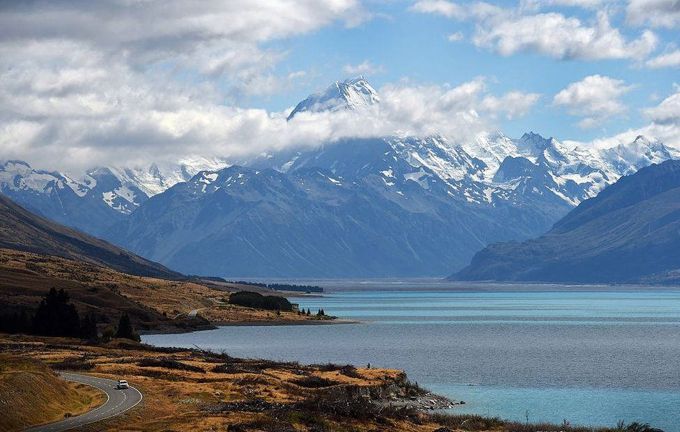 A photo taken on 25 February 2015, shows New Zealand's highest mountain Mount Cook- also known by its Maori name of Aoraki - which sits in the Southern Alps on the South Island at a height of 3,724 metres (12,218 ft).
