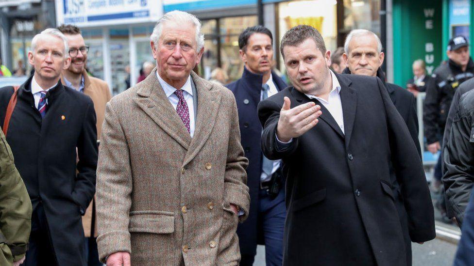 Prince Charles and Andrew Morgan