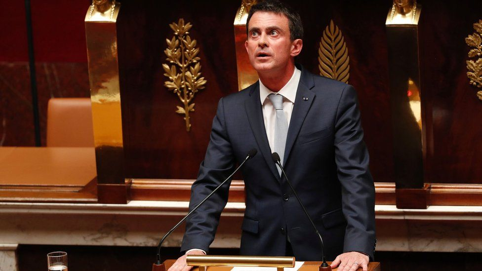 French Prime Minister Manuel Valls speaks during debate to extend the country's state of emergency at the French National Assembly in Paris on July 19, 2016