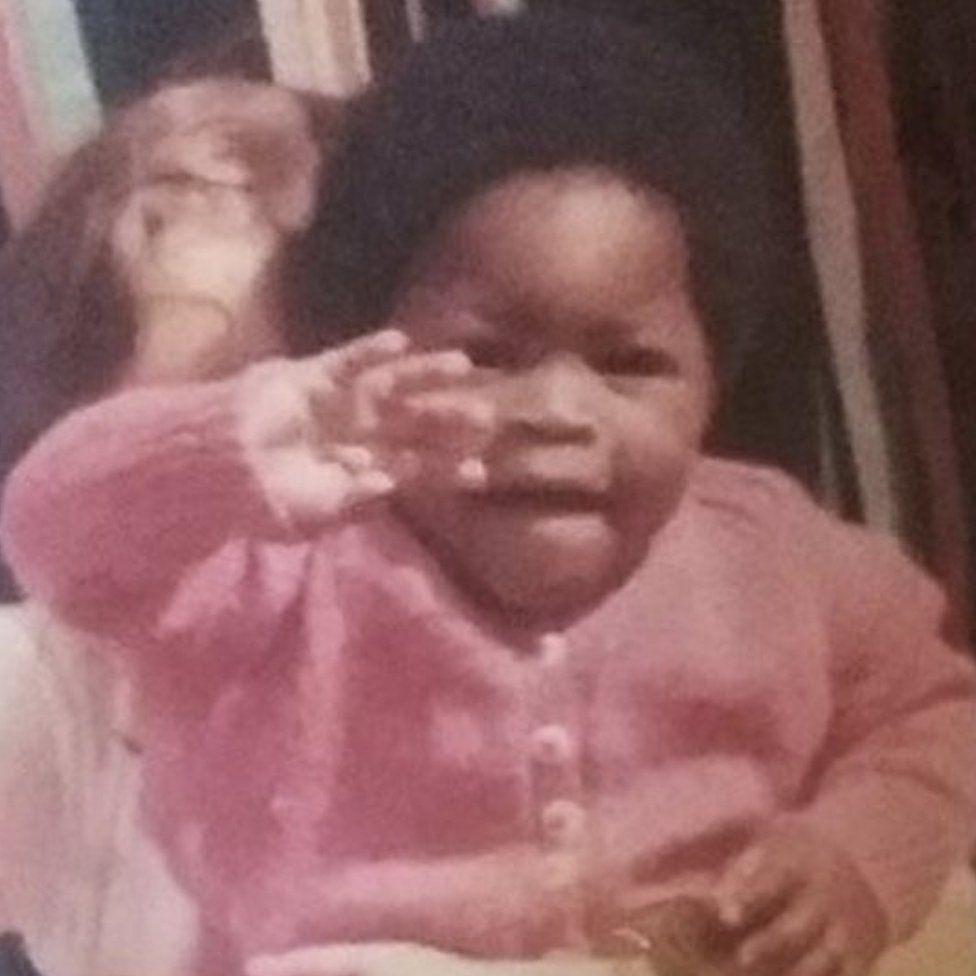 Gina Atinuke Knight as a baby
