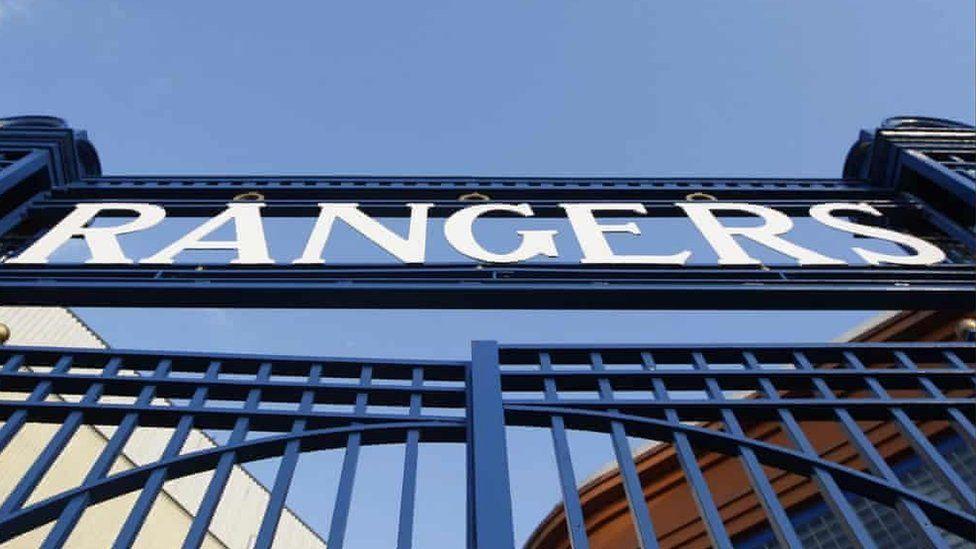 Club sign at Ibrox