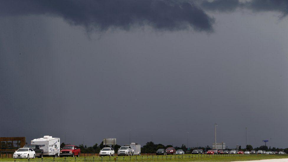 Traffic fleeing Hurricane Irma