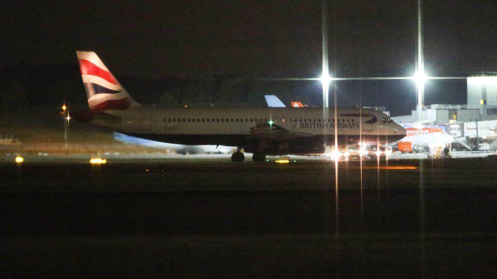 BA plane at Gatwick Airport