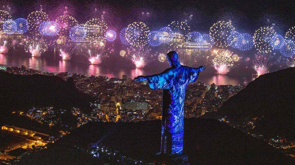 Celebraciones de Año Nuevo en Río de Janeiro, Brasil, 2019
