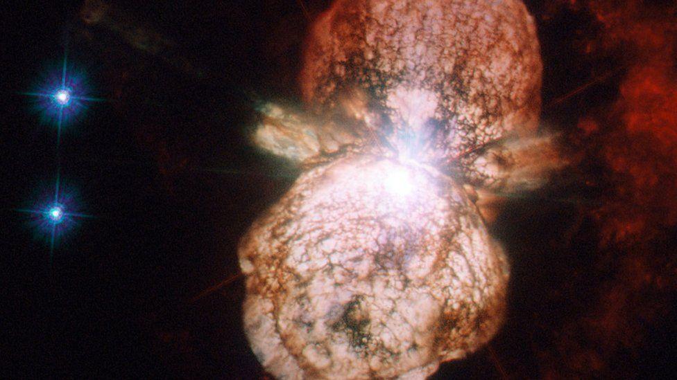 The beginning of a supernova