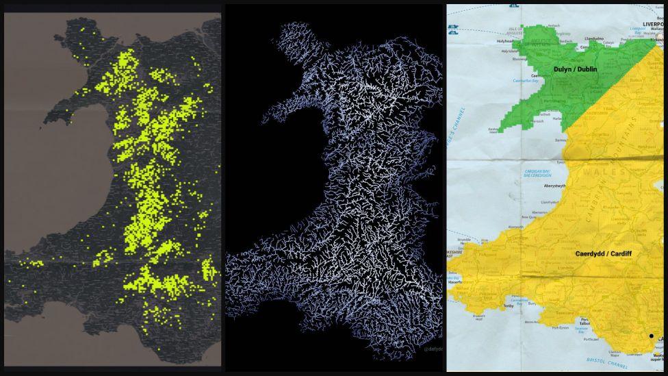 Tri map o Gymru