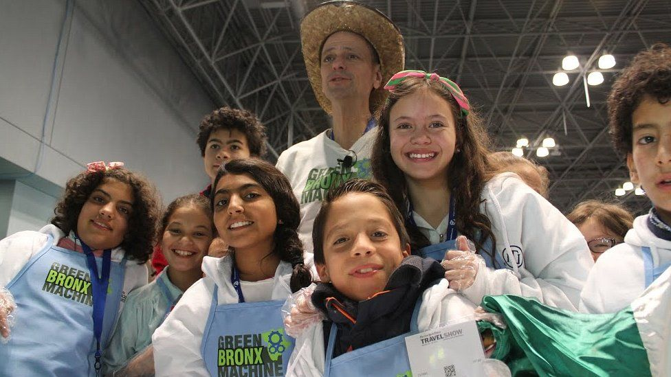 Stephen Ritz and students