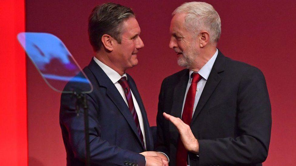 Sir Keir Starmer (left) and Jeremy Corbyn