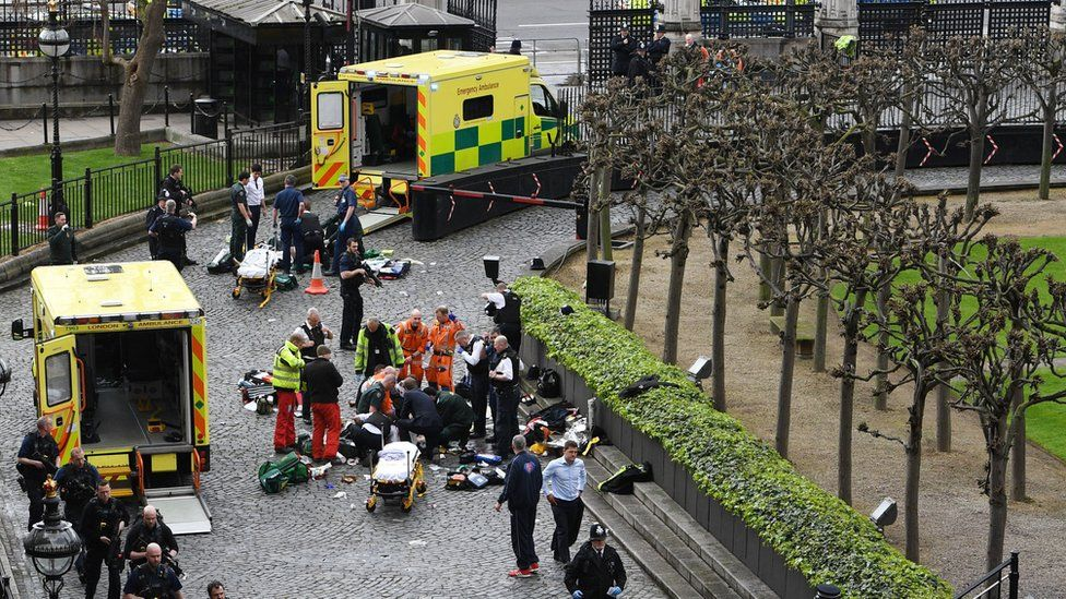 Scene at Parliament after Masood attacked PC Keith Palmer