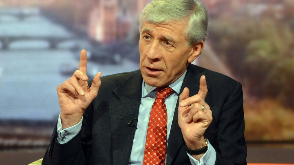 Former Foreign Secretary Jack Straw talking to Andrew Marr