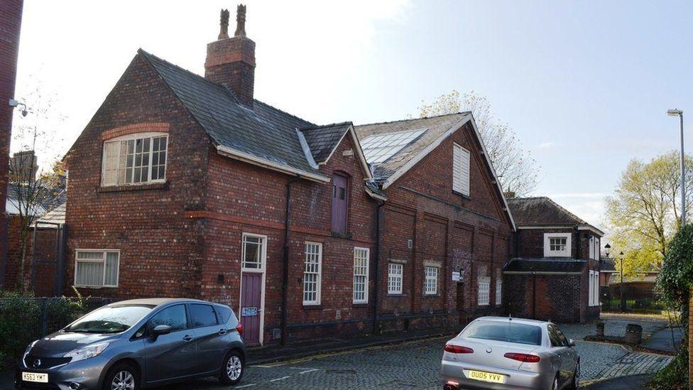 Former drill hall in Bath Street, Warrington