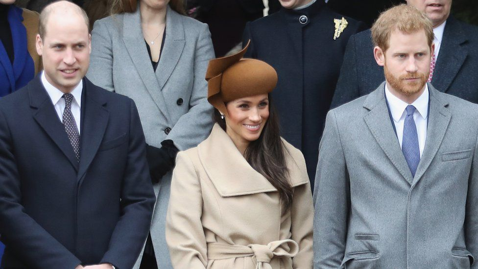 William, Meghan and Harry