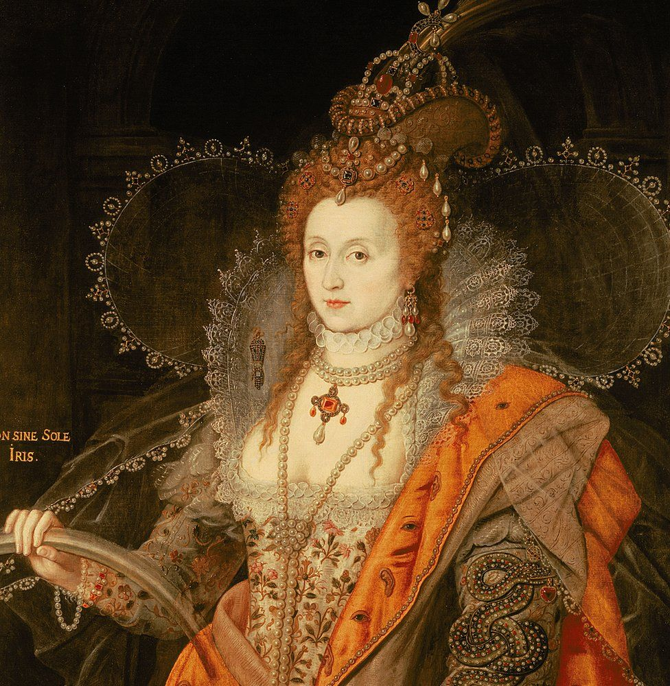 The Rainbow Portrait of Elizabeth I by Isaac Oliver