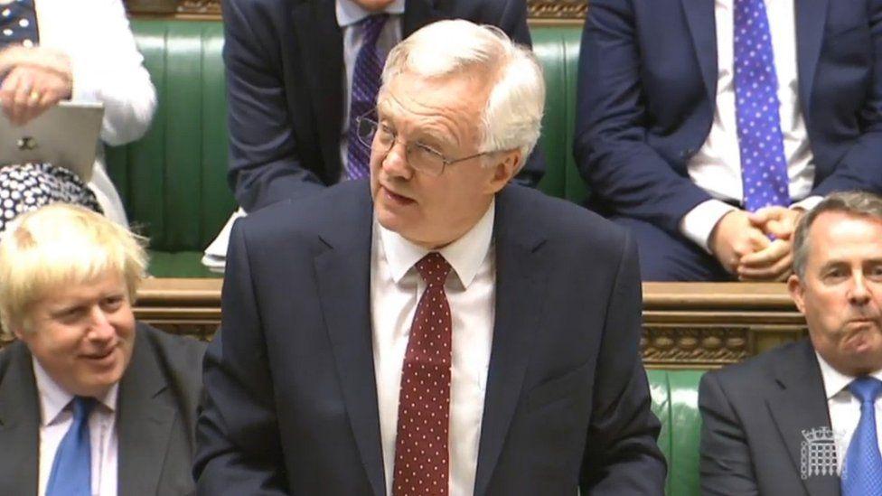 From left: cabinet ministers Boris Johnson, David Davis and Liam Fox