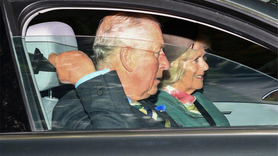 Charles and Camilla at Crathie Church