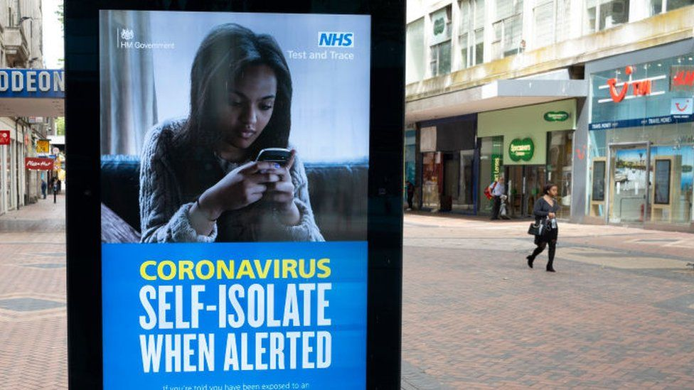 NHS Test and Trace advert in Birmingham