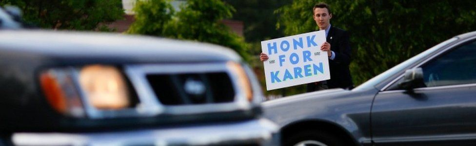 Jack Miller, 15, campaigns for Republican Karen Handel