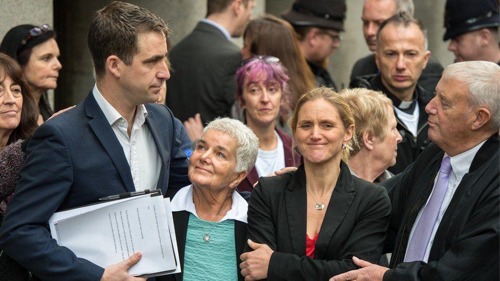 Jo Cox's husband Brendan Cox, mother Jean Leadbeater, father Gordon Leadbeater and sister Kim Leadbeater