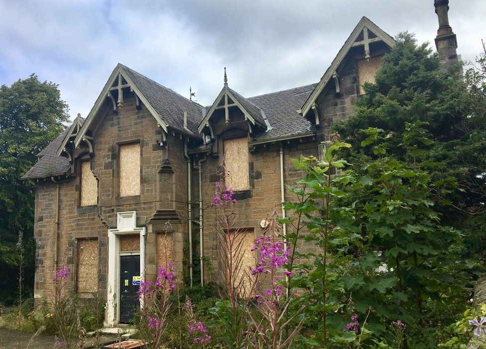 The dilapidated Dunforth Children's Home in Newhaven, Edinburgh, where Mimi Swift was living when she met Roy Rogers and his wife Dale Evans