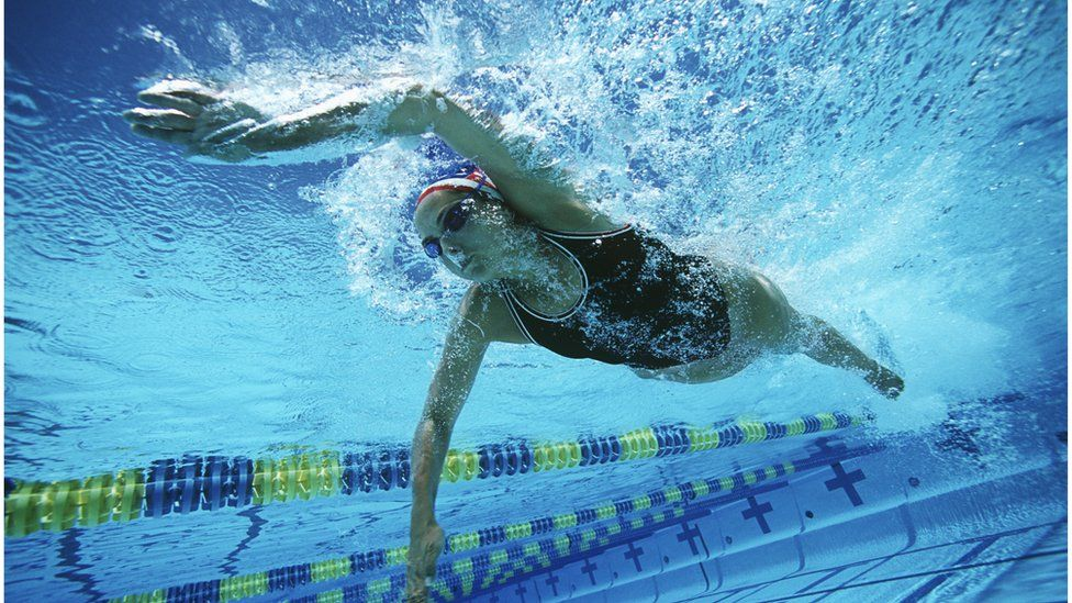 Female swimmer in the pool