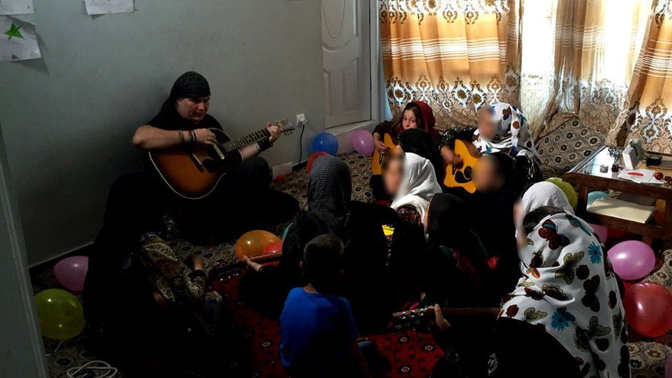 The girls learn songs from musicians like U2, Coldplay, Bob Marley and Peter Gabriel