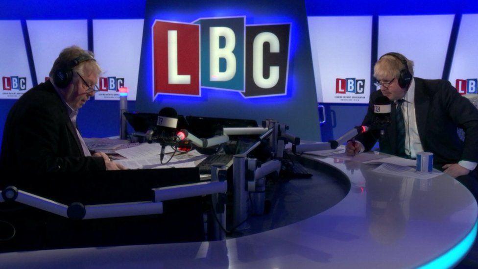 Boris Johnson on his LBC phone-in