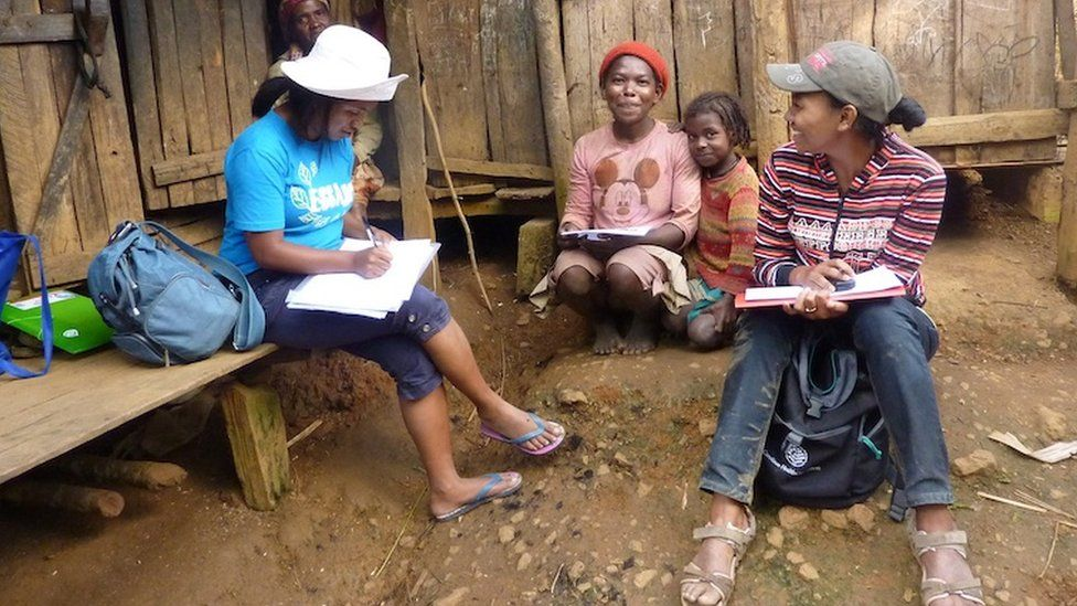 Researchers and residents, Madagascar