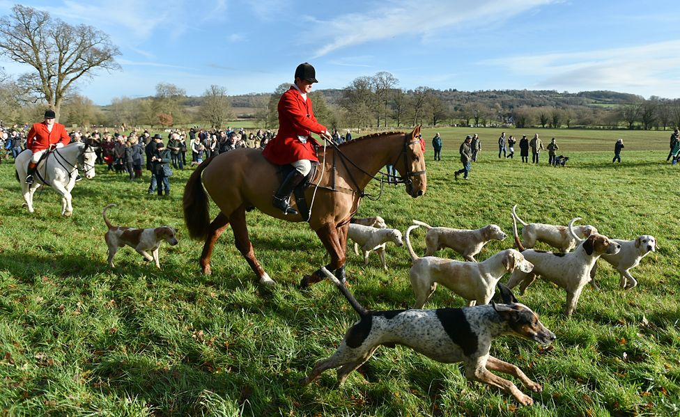 The Avon Vale hunt getting under way on Boxing Day, 2017