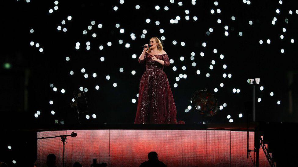Adele on stage in Australia 2017