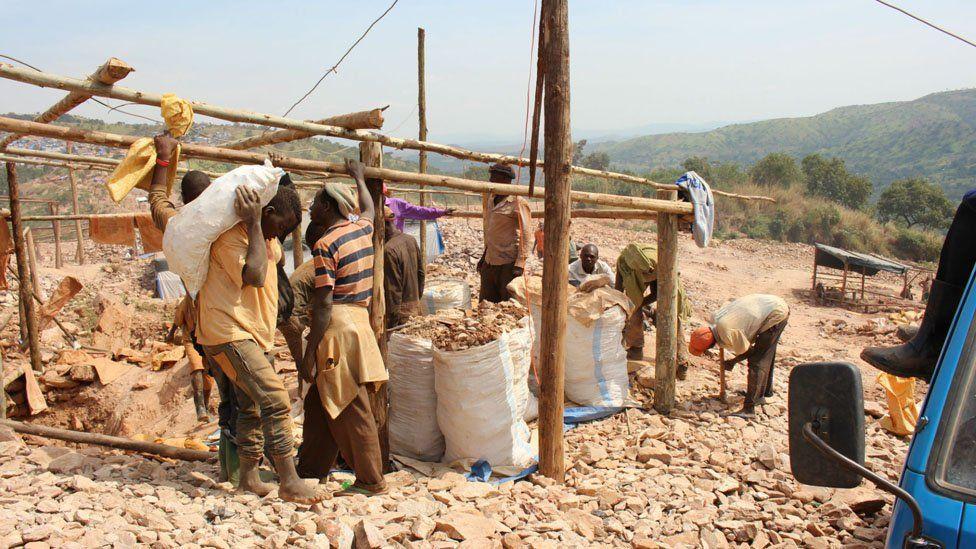 Miners in Mubende