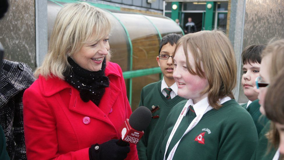Carol Kirkwood and School Reporter