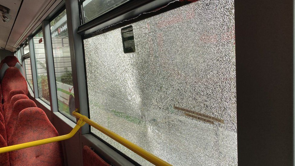 Bus routes were changed to avoid further attacks