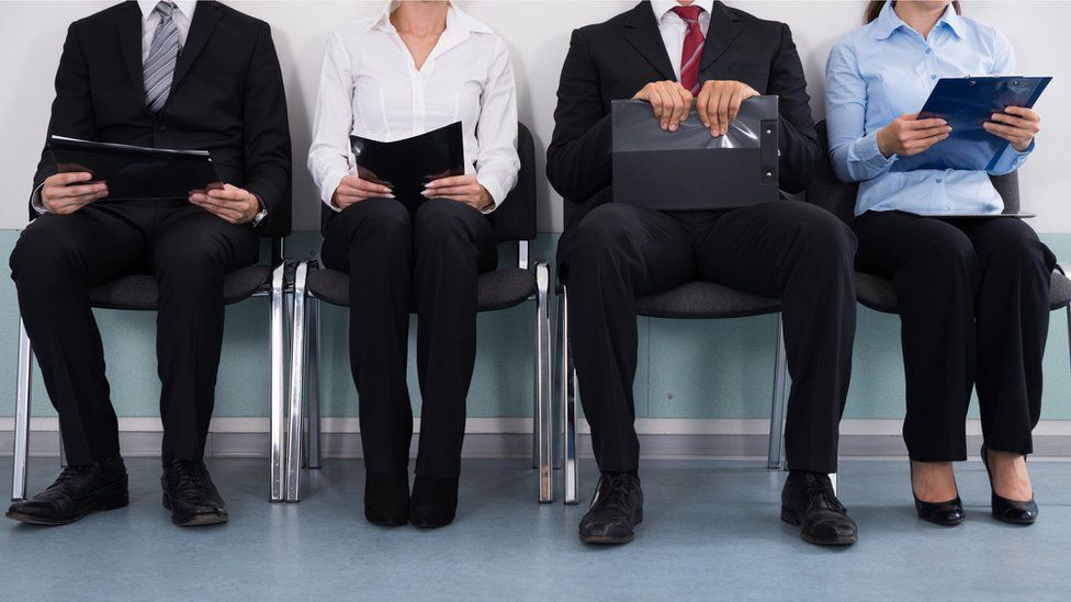 People waiting for a job interview.