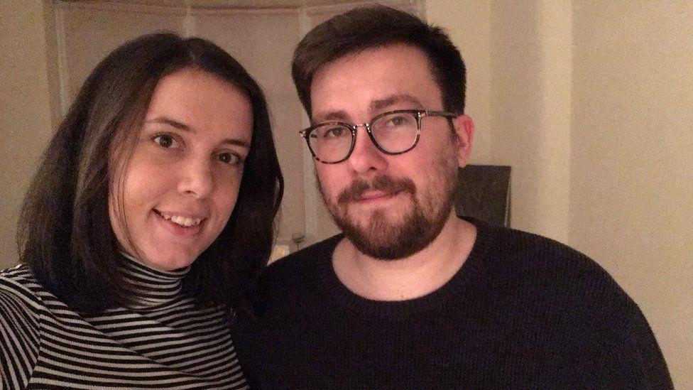 Rebecca Thompson and Adam Drinkwater