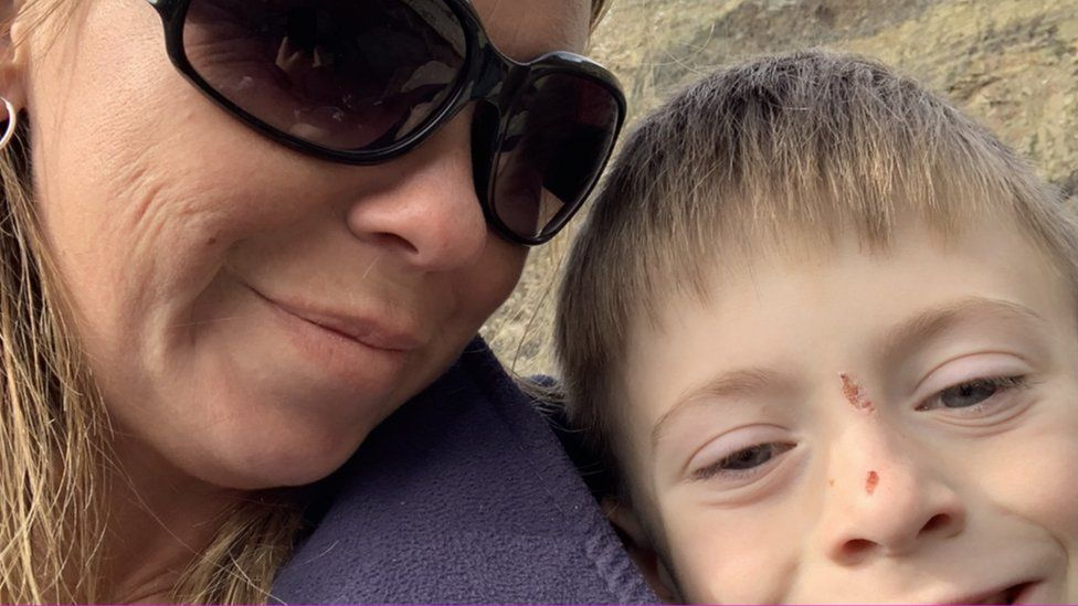 Gemma Drummond-Walker and her son Max