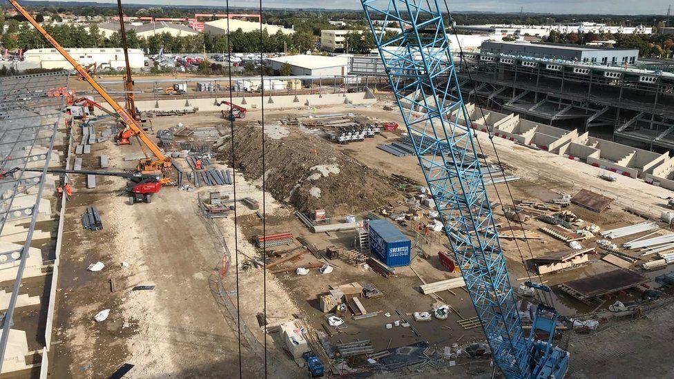 Construction at York stadium