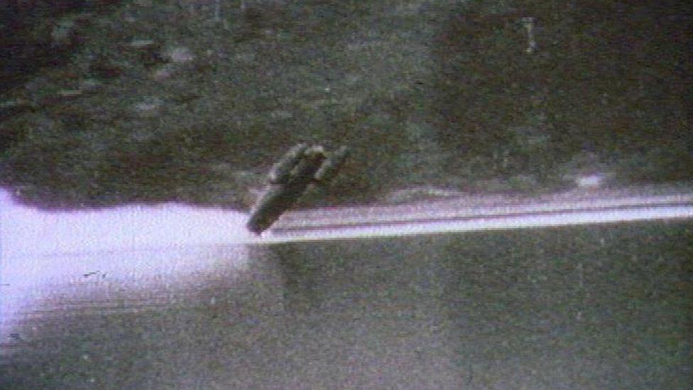 Bluebird somersaulting on Coniston Water