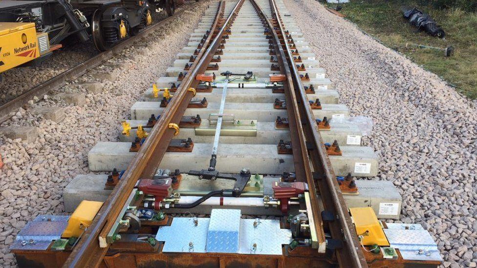 Rhyl track upgrade work