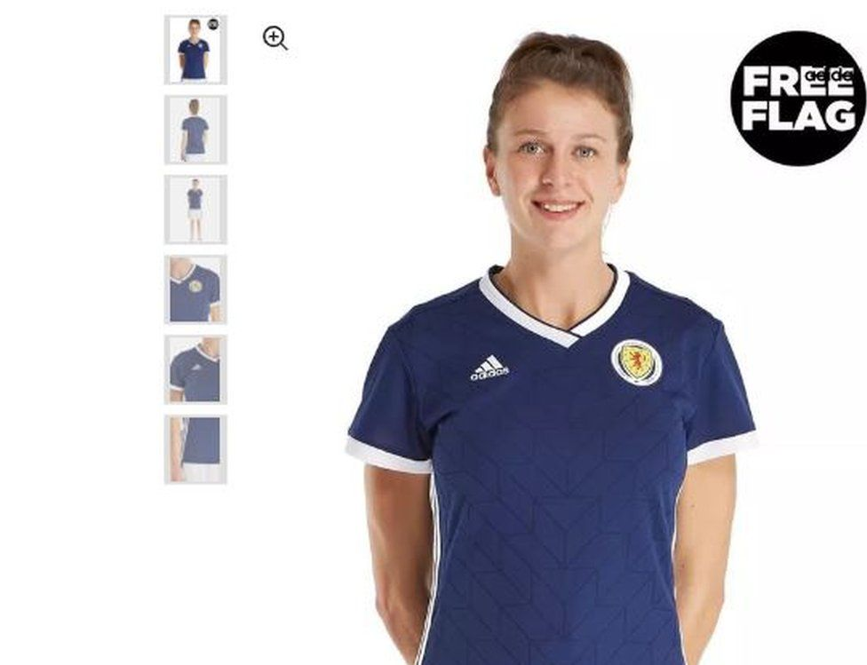c71bd99294 JD Sports removes Scotland kit photo after sexism row - BBC News