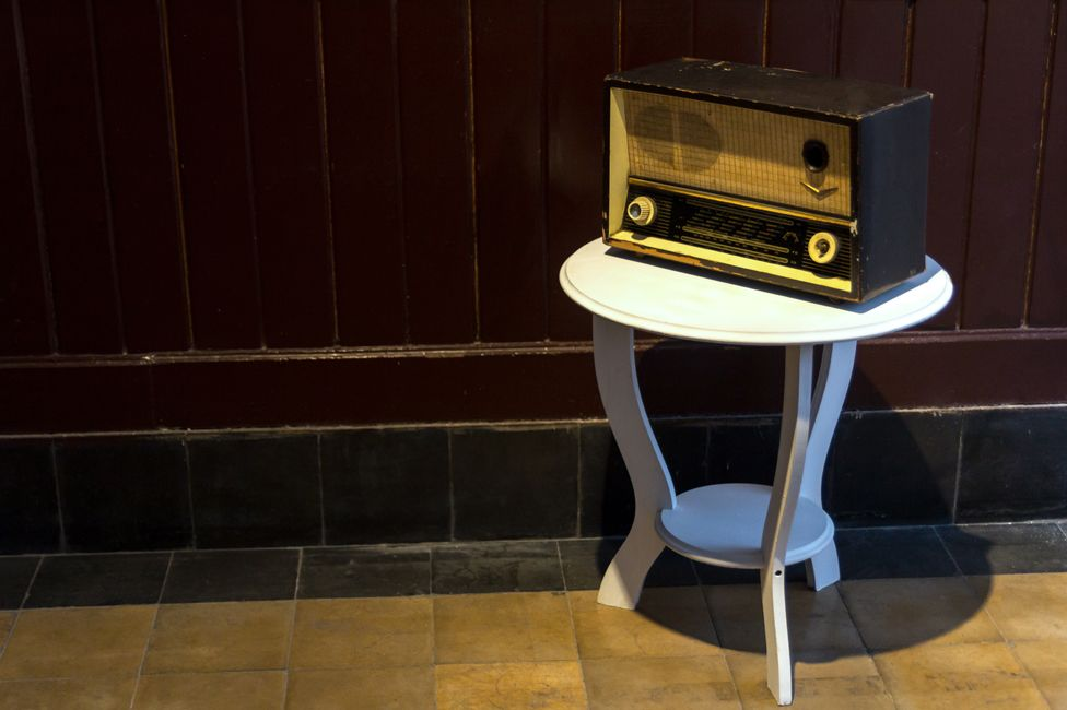 An old-fashioned radio in Turkey