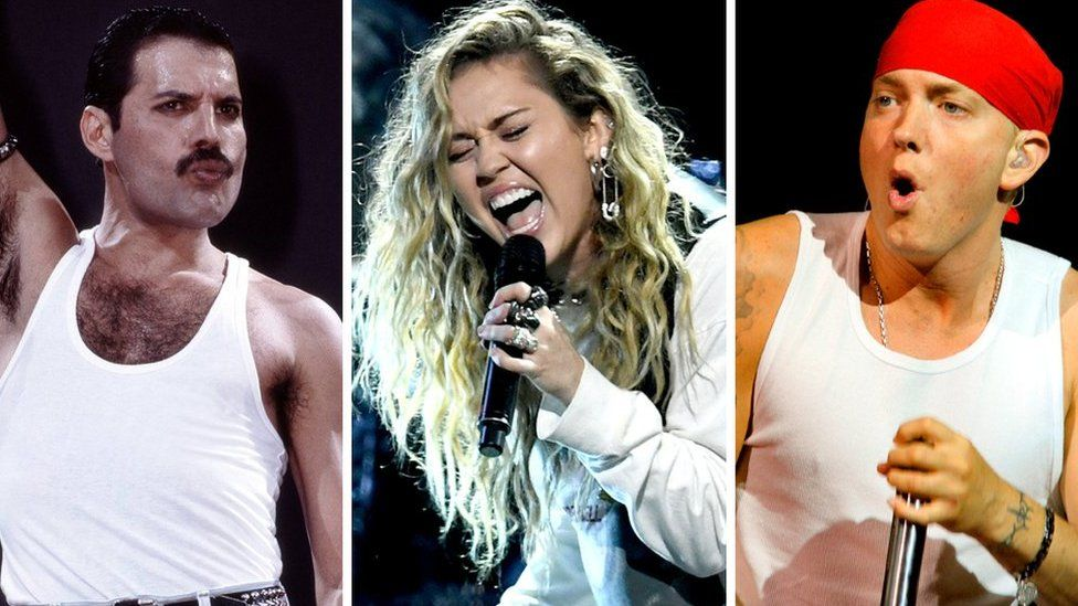 Queen, Miley Cyrus and Eminem