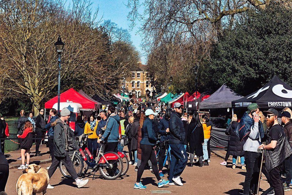 Victoria Park in London on Sunday