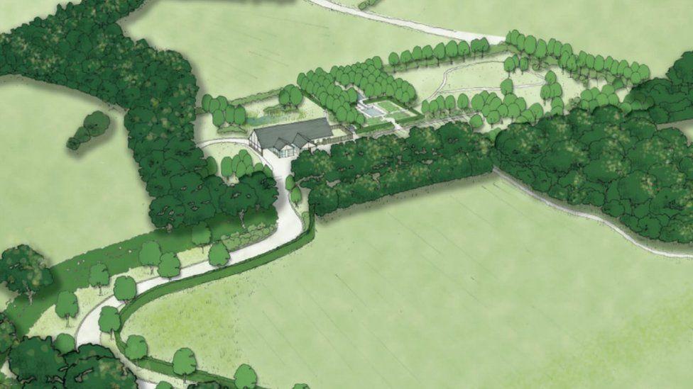 Artist illustration of the Northop planned site