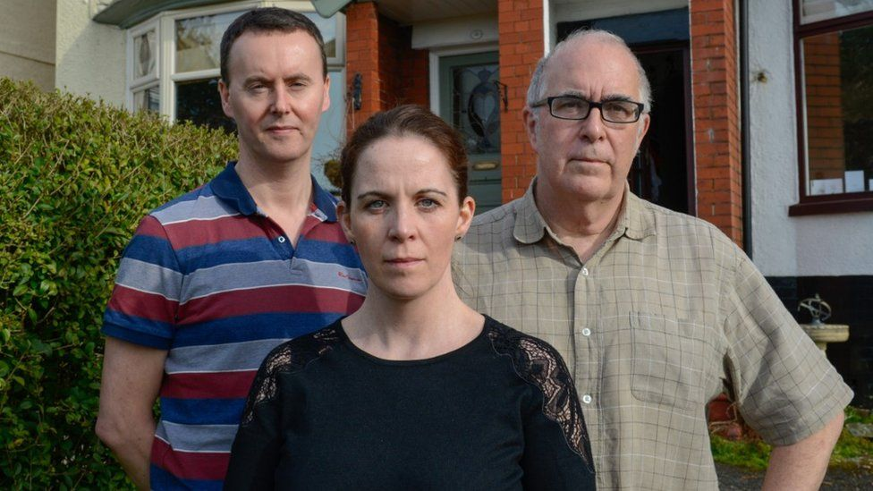 (L-R) Kevin Rowe, Lucy Rowe and Christopher Clode