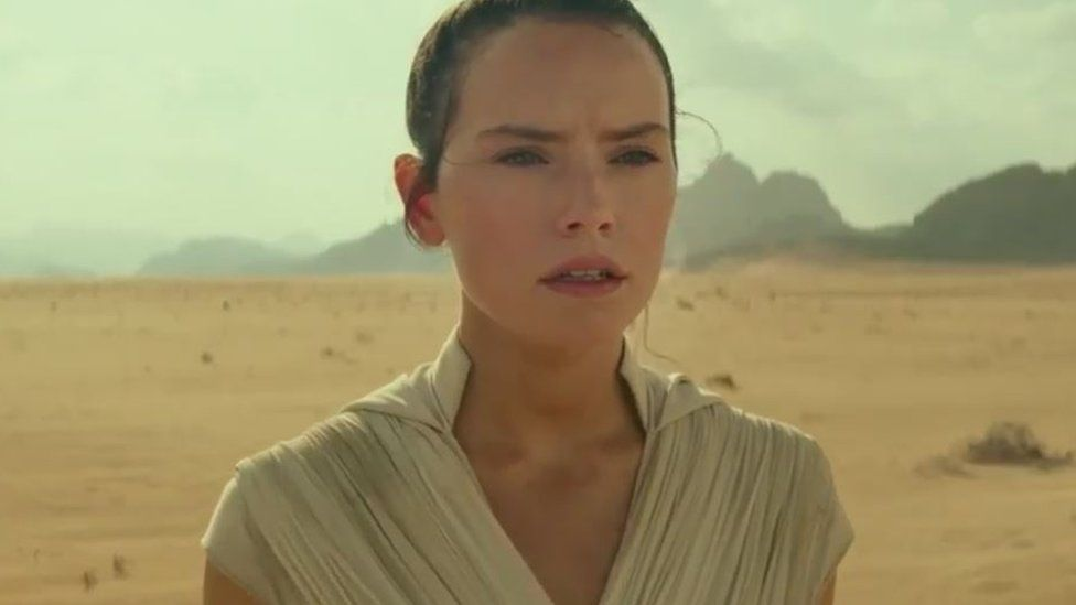 Rey in the trailer for The Rise of Skywalker