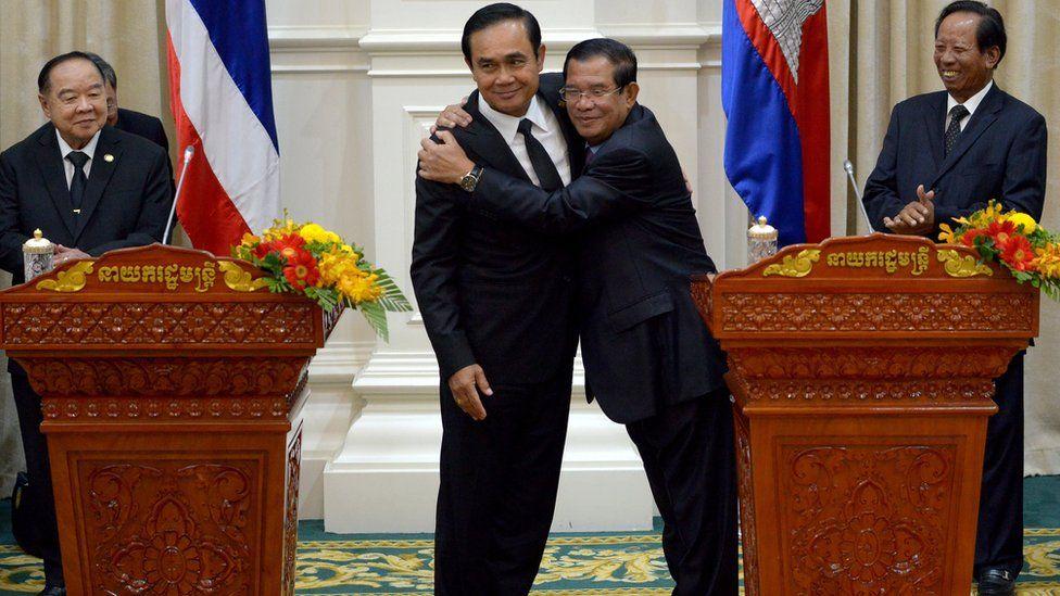 Prayut Chan-ocha and Hun Sen