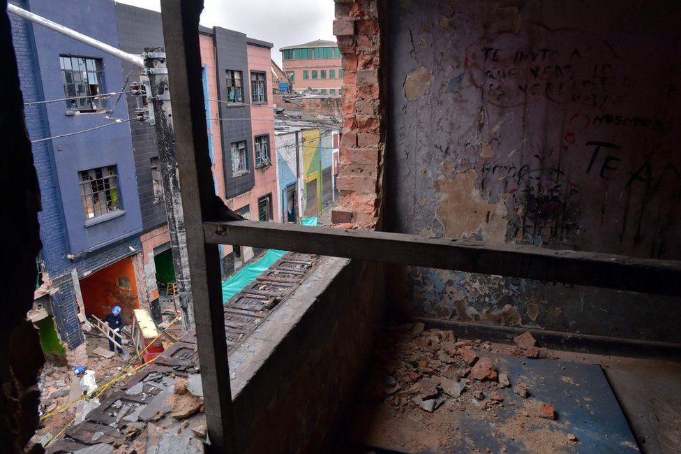 Buildings in Bogota's Bronx slum, 10 August