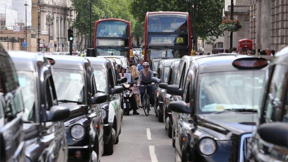 Black cab protest